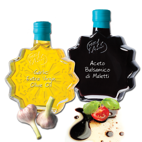 Aceto Balsamico di Modena I.G.P. Maletti and Garlic Extra Virgin Olive Oil