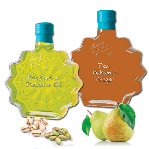 Pear Balsamic Vinegar and Pistachio Oil