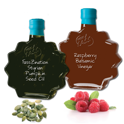 Raspberry Balsamic Vinegar and Styrian Pumpkin Seed Oil