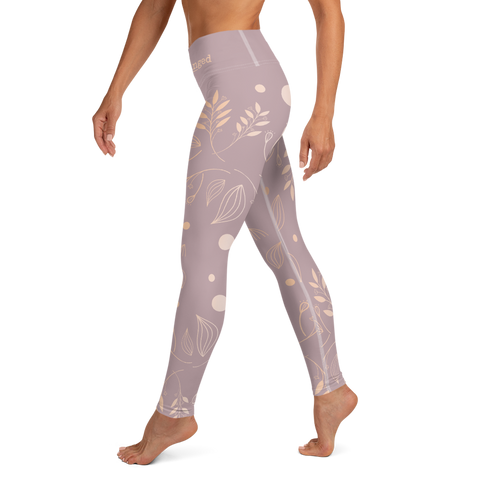 Rose Gold Leaf Leggings