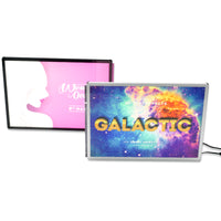 Backlit flim light-box A4 Size table top advertising poster lightbox