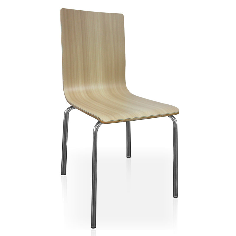 Fast food restaurant bentwood Dining chair with SS base FOH-BC02Y