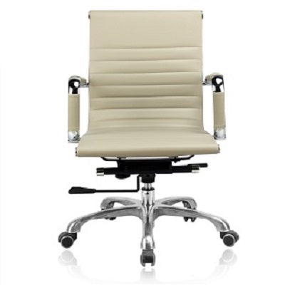 Low Back Swivel Office Chair (White) F11-B