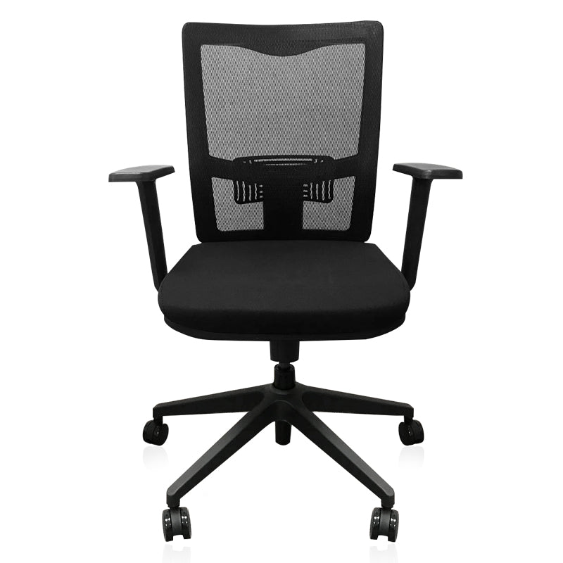 Medium Back Mesh Chair (Black, BIFMA gas lift) FOH-2B