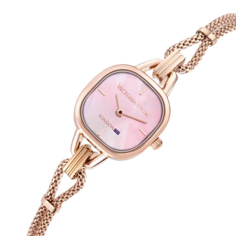 Uhr Oxford Circus Edged Mesh Roségold Rosa