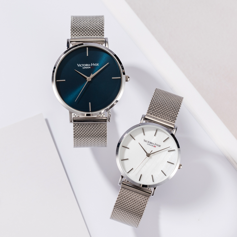 Uhr Richmond Simple Mesh Silber Grau