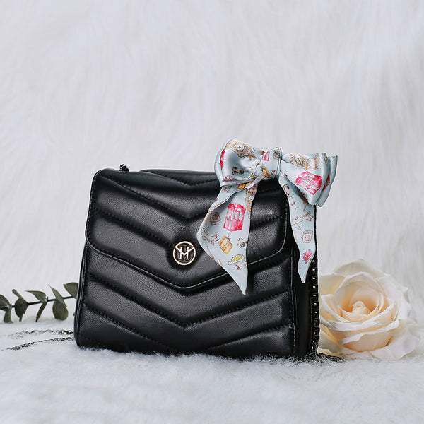 Set New English Lady Bag Leder Schwarz