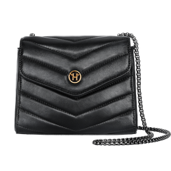 Handtasche New English Lady Bag Leder Schwarz