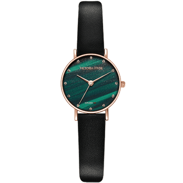 Loughton Leather Black Cyan Dial