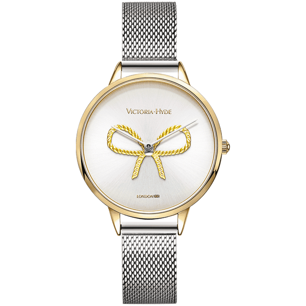 Uhr Maida Vale Bow Mesh Silber Gold