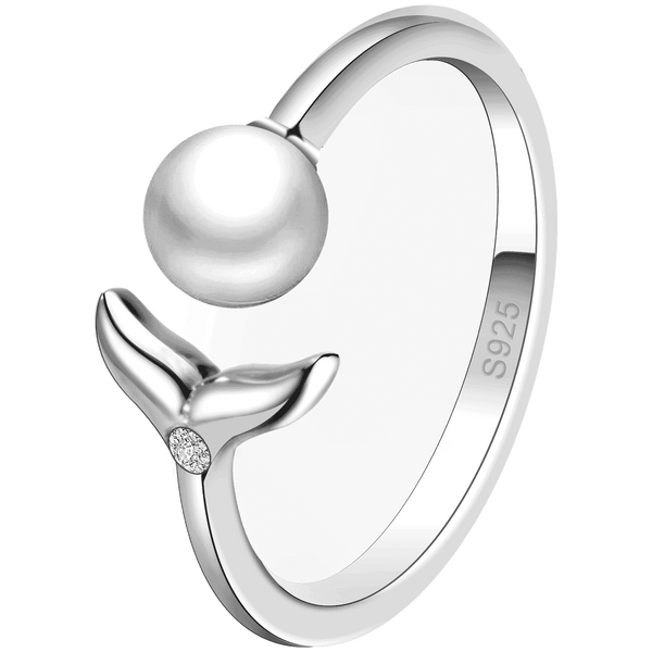 Ring Mermaid Pearl Silber
