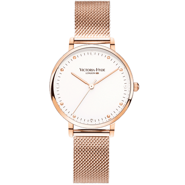 Metropolitan Mesh Rose Gold Seconds Hand