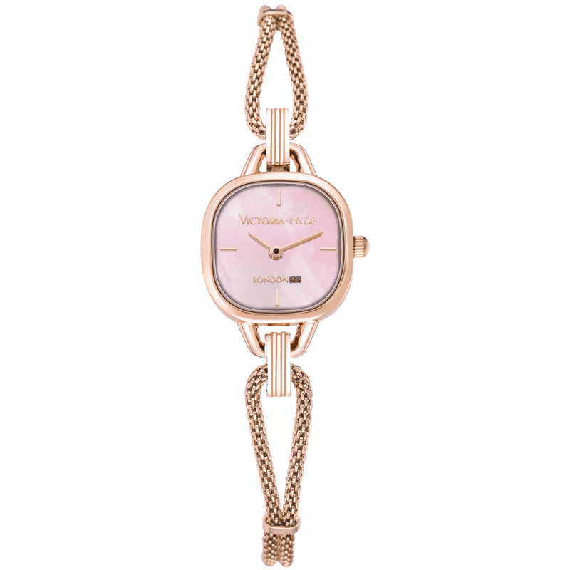 Uhr Oxford Circus Edged Mesh Roségold