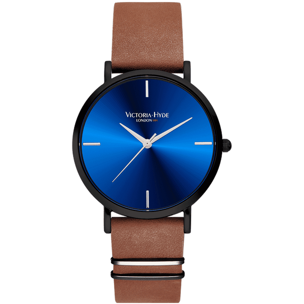 Uhr Richmond Simple Leder Braun Blau