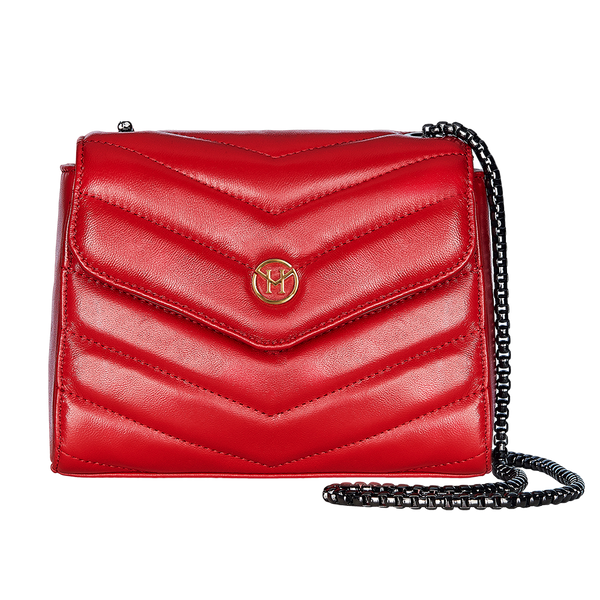 Handtasche New English Lady Bag Leder Rot