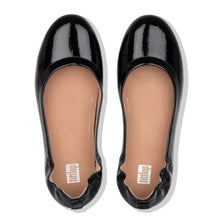 Load image into Gallery viewer, FitFlop™ Allegro Crinkle Patent Ballerinas