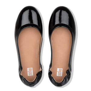 FitFlop™ Allegro Crinkle Patent Ballerinas