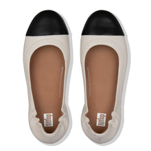 Load image into Gallery viewer, FitFlop™ Allegro Leather Toe-Cap Ballerina