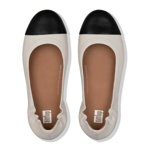 FitFlop™ Allegro Leather Toe-Cap Ballerina