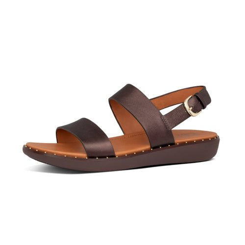 FitFlop™ Barra Metallic Leather Back-Strap Sandals