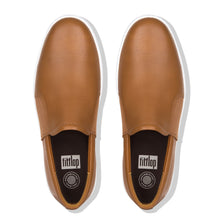 Load image into Gallery viewer, FitFlop™ Collins Leather Slip-On Skate Shoes