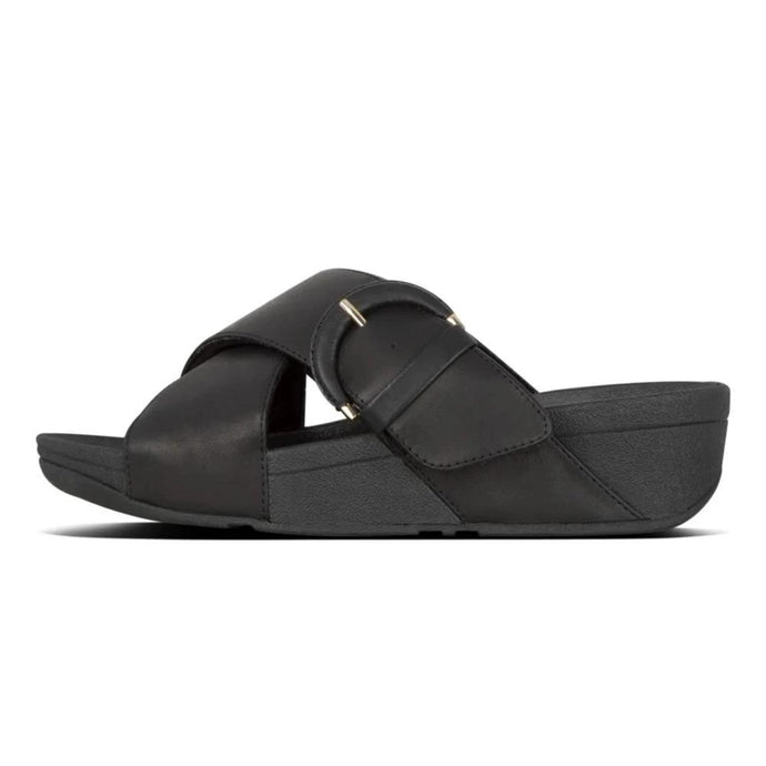 FitFlop™ Lulu Buckle Leather Slide