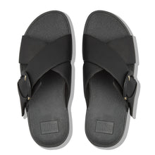 Load image into Gallery viewer, FitFlop™ Lulu Buckle Leather Slides