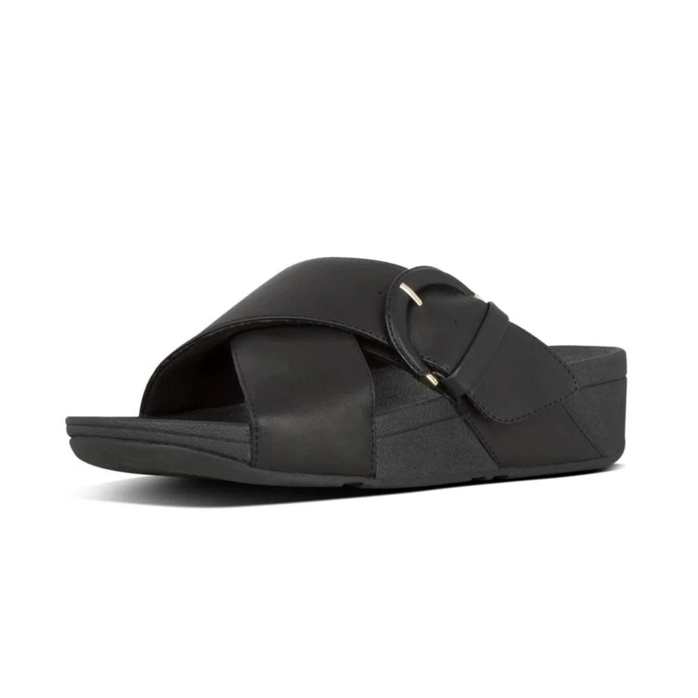 FitFlop™ Lulu Buckle Leather Slides