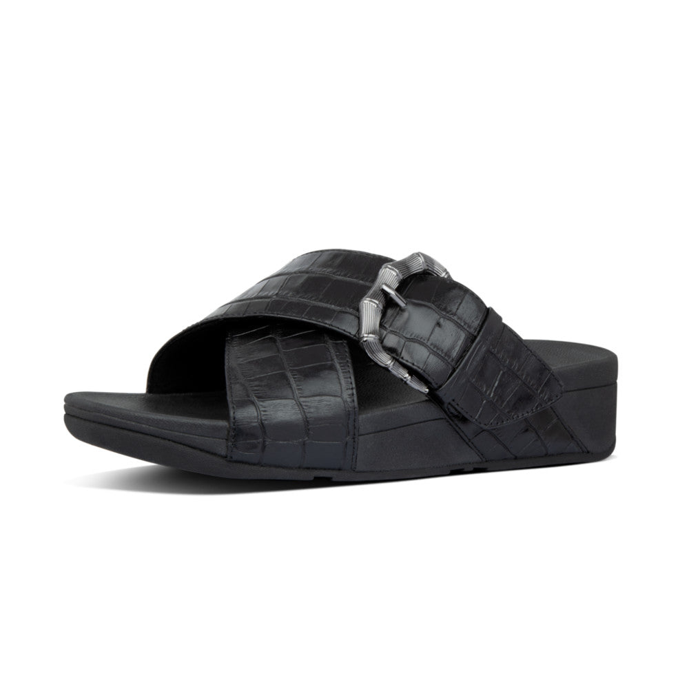 FitFlop™ Lulu Croco Slides
