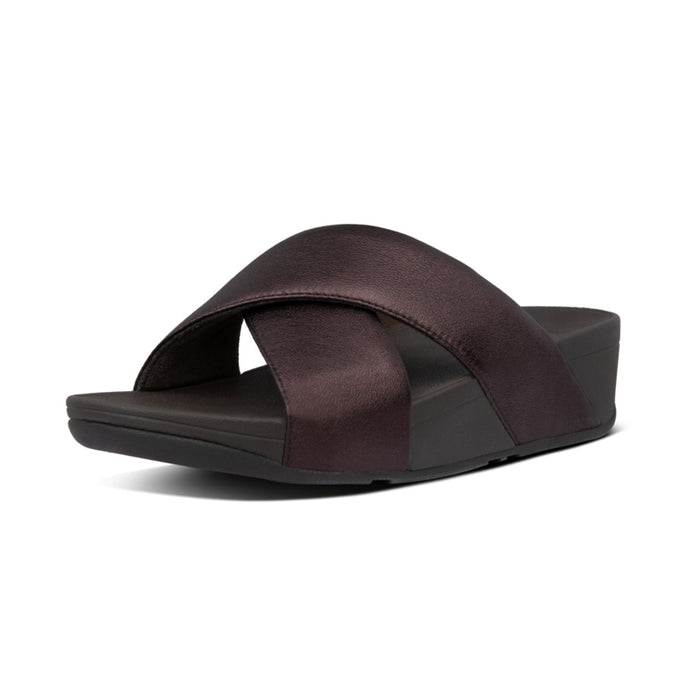 FitFlop™ Lulu Leather Cross Slides