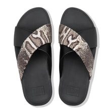 Load image into Gallery viewer, FitFlop™ Lulu Snake-Print Slides