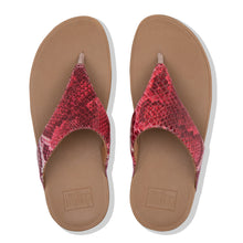 Load image into Gallery viewer, FitFlop™ Lulu Snake-Print Toe-Thongs