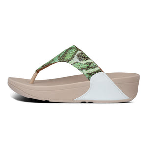 FitFlop™ Lulu Snake-Print Toe-Thongs