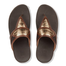 Load image into Gallery viewer, FitFlop™ Margot Art Deco Patchwork Toe-Thongs