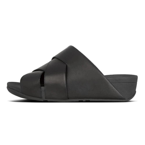 FitFlop™ Mocca Novaweave Leather Slide