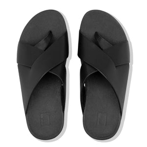 FitFlop™ Mocca Novaweave Leather Toe-Thongs