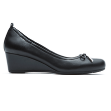 Load image into Gallery viewer, Rockport Total Motion Tied Wedge Pump (Wide Fit)