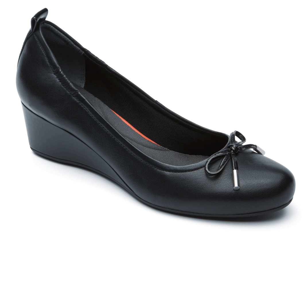 Rockport Total Motion Tied Wedge Pump (Wide Fit)