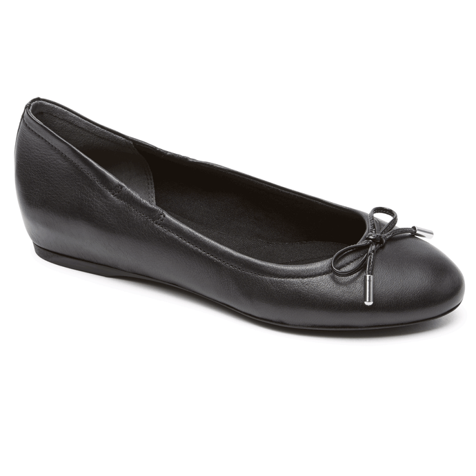Rockport Hidden Wedge Tied Ballet Flat (Medium Fit)