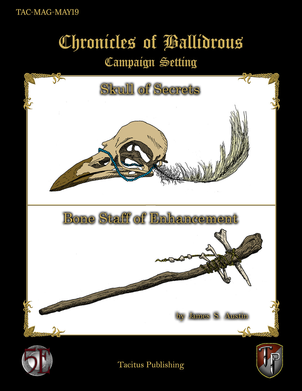 Chronicles of Ballidrous - Magical Items - Skull of Secrets & Bone Staff of Enhancement (PDF)