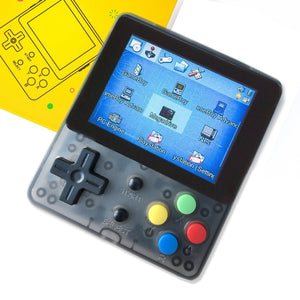 LDK Handheld Game Console Crystal Black +Full Tempered glass film