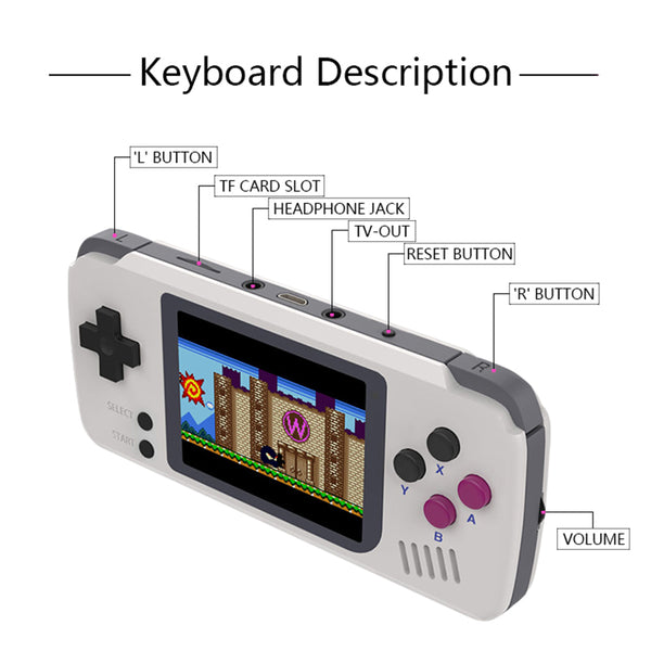 PocketGo Retro game console. V1.3 CFW. NO Screen Tearing.