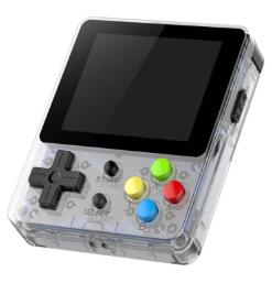 LDK Handheld Game Console Crystal White+Full Tempered glass film