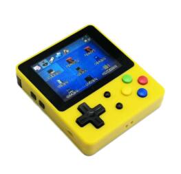 LDK Handheld Game Console Yellow+Full Tempered glass film