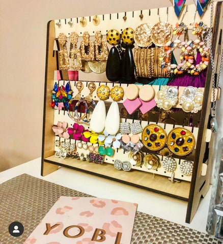 Earring stands and adjustable earring stands boards and storage solutions for accessories