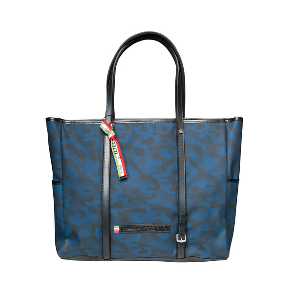 Large Tote with Blue Camo