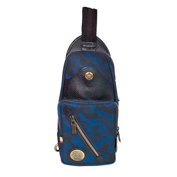 Ibridello Crossbody in Blue Camo