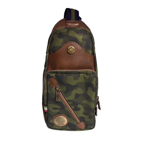 Ibridello Crossbody in Green Camo