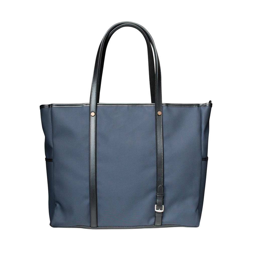 3C Custer Large Tote Bag with Blue Dots