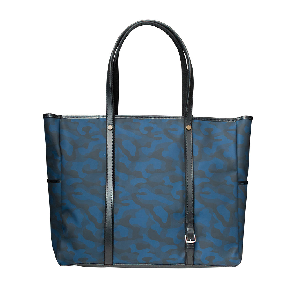 3C Custer Large Tote Bag with Blue Camo